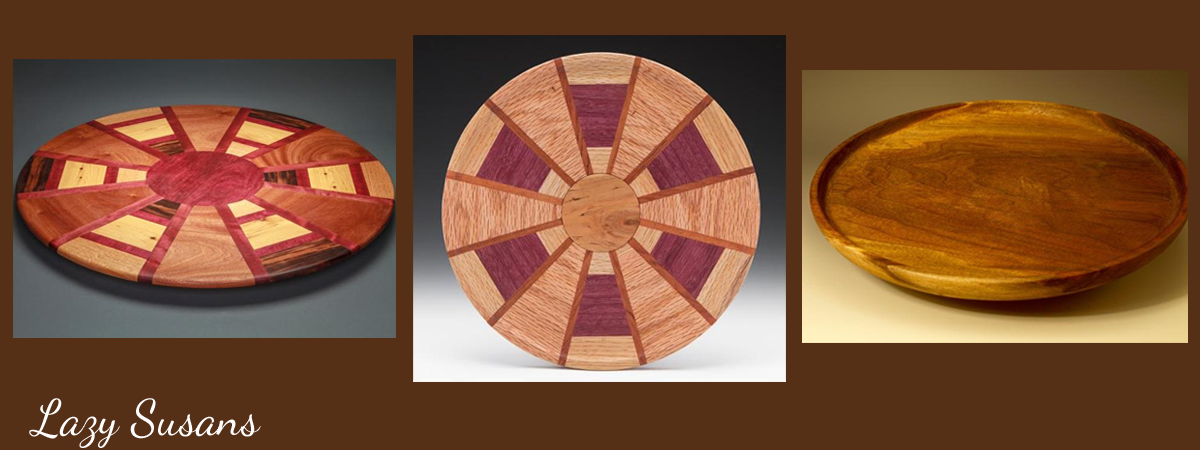 Hand-crafted Wooden Lazy Susan