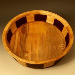 Rim:Oak, Bottom:Spalted Cherry, Middle:Oak,Cocobolo, Snakewood