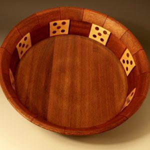 Rim:Bloodwood,Spanish Cedar, Bottom:Spanish Cedar, Middle:Spanish Cedar,Bloodwood, Black Walnut,Cherry,Cocobolo,Maple