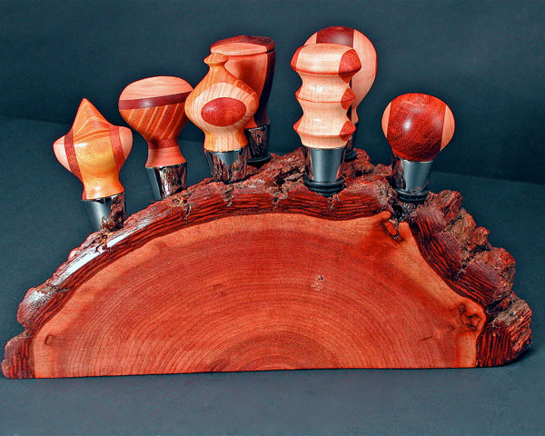 #91 Segmented  Wood Bottlestoppers